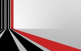 Картинка линии, перспектива, красная, черные