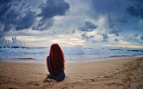 Картинка Песок, Небо, Пляж, Джимбаран, Бали