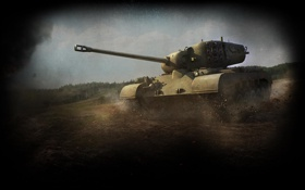 Обои Танк, WoT, World of Tanks, M26 Pershing, Першинг, Перш