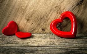 Обои romantic, сердечки, heart, love, сердце, wood