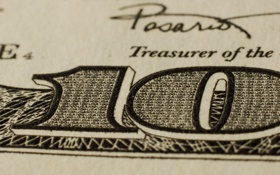 Обои доллар, деньги, микротекст