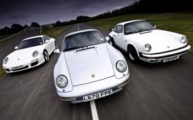 Обои гоночная трасса, серебристый, 911, порше, 928, mixed, дорога