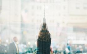 Обои шпиль, San Francisco, отражения, Сан-Франциско, девушка, башня, небоскреб