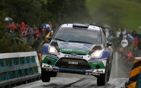 Обои Ford, Мост, Форд, Капот, Фары, Car, WRC