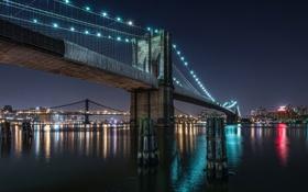 Обои мост, город, Brooklyn