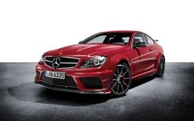 Картинка красный, Mercedes-Benz, C-Class