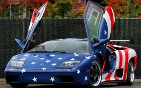 Обои фон, Lamborghini, двери, суперкар, передок, Diablo, Ламборгини