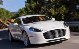 Картинка Aston Martin, фары, решетка, автомобиль, передок, Rapide S