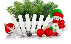 Обои звезды, украшения, снежинки, праздник, шары, игрушки, Рождество