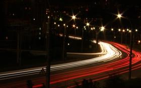 Обои ночь, город, огни