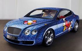 Обои машины, графити, Bentley