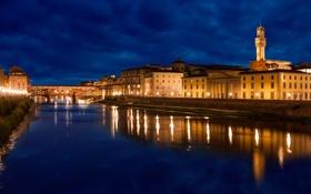 Картинка city, город, lights, огни, здания, Ночь, Венеция