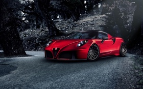 Обои Red, Racing, Alfa-Romeo, Pogea