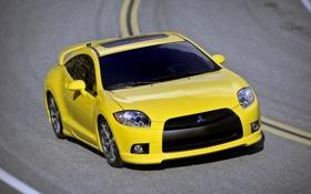 Картинка желтый, yellow, eclipse, митсубиси