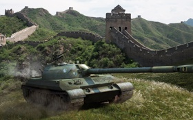 Обои поле, China, танк, Китай, танки, WoT, World of Tanks