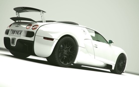Обои bugatti, veyron, noir blanc3