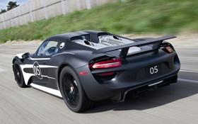 Обои машина, скорость, Prototype, Porsche, Spyder, 918