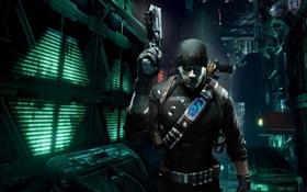 Картинка пистолет, герой, сфера, персонаж, Prey 2, будуще