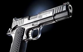 Обои пистолет, STI International, фон, оружие