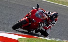 Обои Гонка, Байк, Мотоцикл, Мото, Трасса, Ducati, EVO