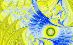 Обои свет, узор, цвет, круг, спираль