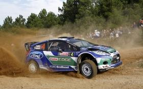 Обои Ford, Пыль, Спорт, Люди, Форд, Гонка, WRC