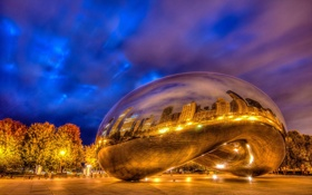 Обои The Bean, Chicago, Cloud Gate
