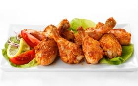 Картинка курица, мясо, помидоры, куриные ножки