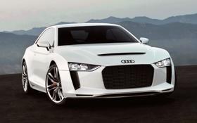 Обои машина, Concept, Audi, белая, Quatro