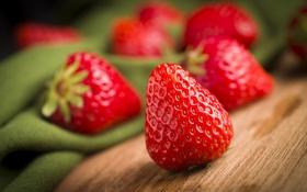 Обои клубника, макро, ягоды