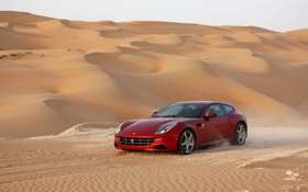 Картинка Ferrari, desert