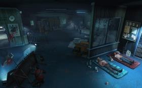 Обои комната, оборона, раненые, после атаки замби