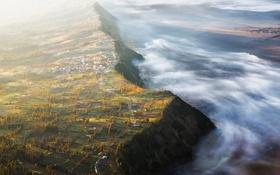 Обои природа, облака, пейзаж, панорама, высота