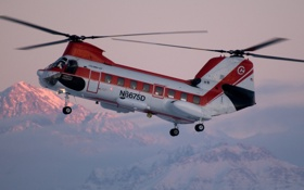 Картинка вертолёт, транспортный, Sea Knight, CH-46, Boeing Vertol