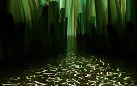 Обои green, symbols, water