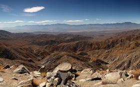 Обои Небо, Облака, Фото, Скалы, Панорама, Камни, Калифорния
