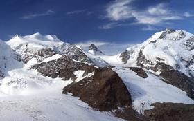 Обои Небо, Природа, Облака, Фото, Горы, Скалы, Снег