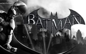 Обои прожектор, темный рыцарь, бэтмен, Batman Arkham City