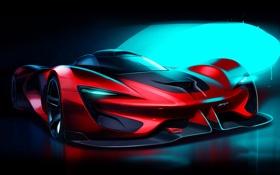 Обои Dodge, Vision, додж, Tomahawk, SRT, Gran Turismo, 2015