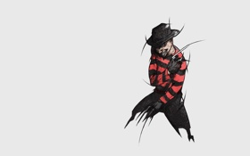 Обои классика, полосатый, ужастик, Фредди Крюгер, Кошмар на улице Вязов, Freddy Krueger, A Nightmare On Elm ...