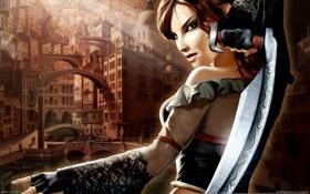 Картинка фантастика, игра, Девушка, меч, Venetika
