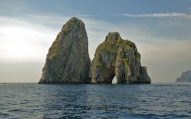 Картинка sea, Italy, Campania, island, boat, Naples, Capri