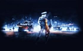 Обои попка, девушка, солдат, супер, Battlefield 3