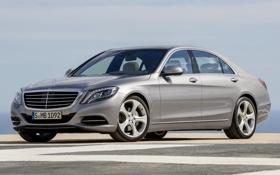 Картинка Mercedes-Benz, седан, красивый, Hybrid, передок, S 400
