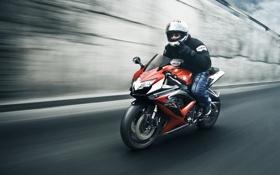 Картинка скорость, Suzuki, мотоциклист, front, GSX-R