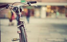 Обои велосипед, город, улица, vintage, images, classic bicycle