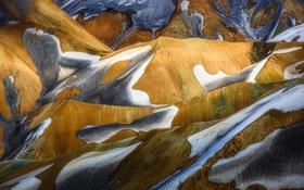 Картинка снег, горы, холмы, Исландия