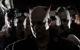 Обои индастриал метал, мужик с рожками, INDUSTRIAL METAL, пьяные танцы, TANZWUT, пляска святого витта