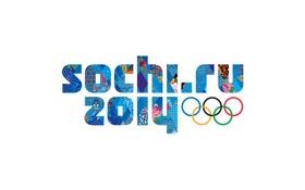 Обои стиль, кольца, белый фон, Россия, Олимпийские игры, XXII Зимние Олимпийские Игры, Sochi 2014