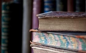 Обои antique, books, many, literature